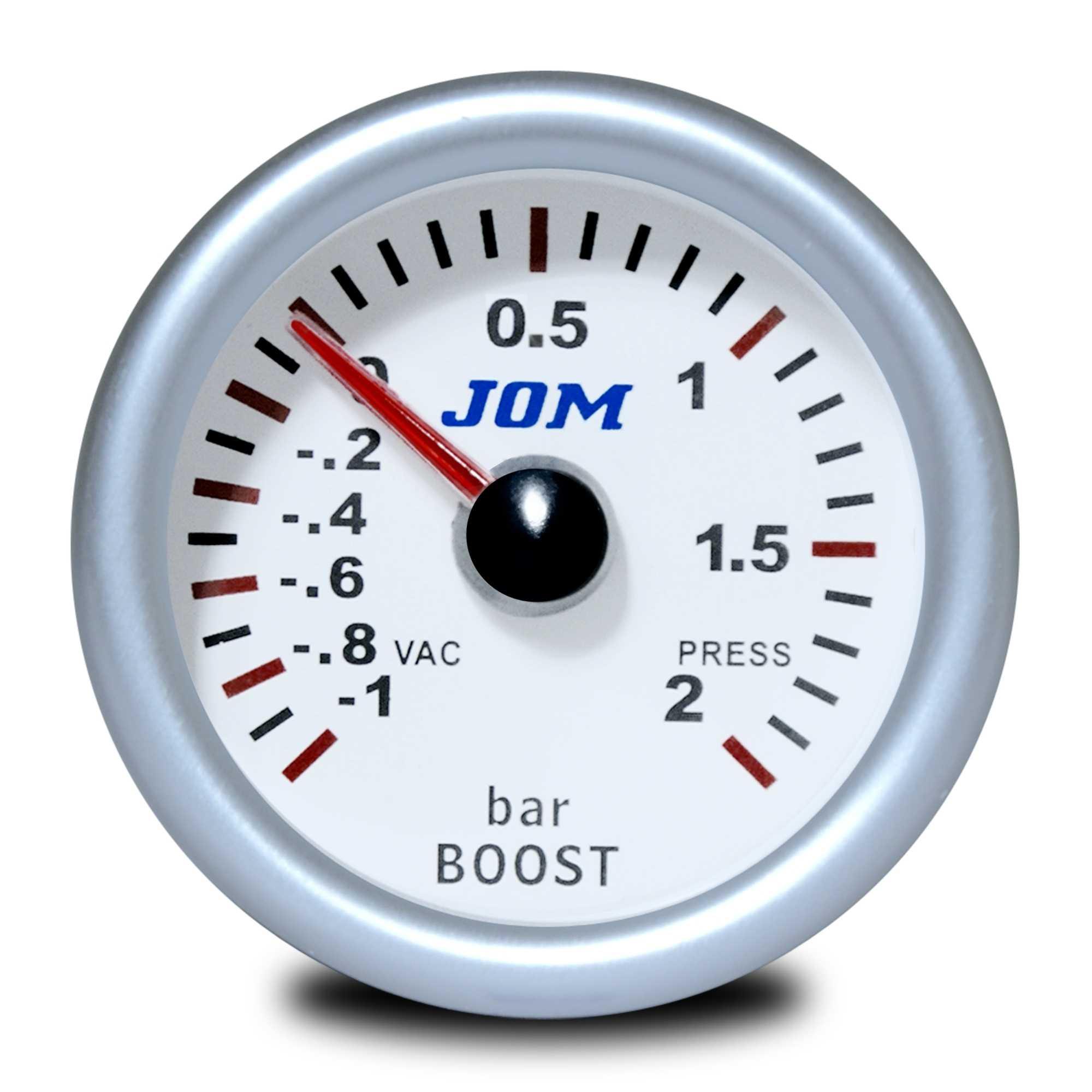 JOM palubní přístroj - tlak turba s bílým podkladem