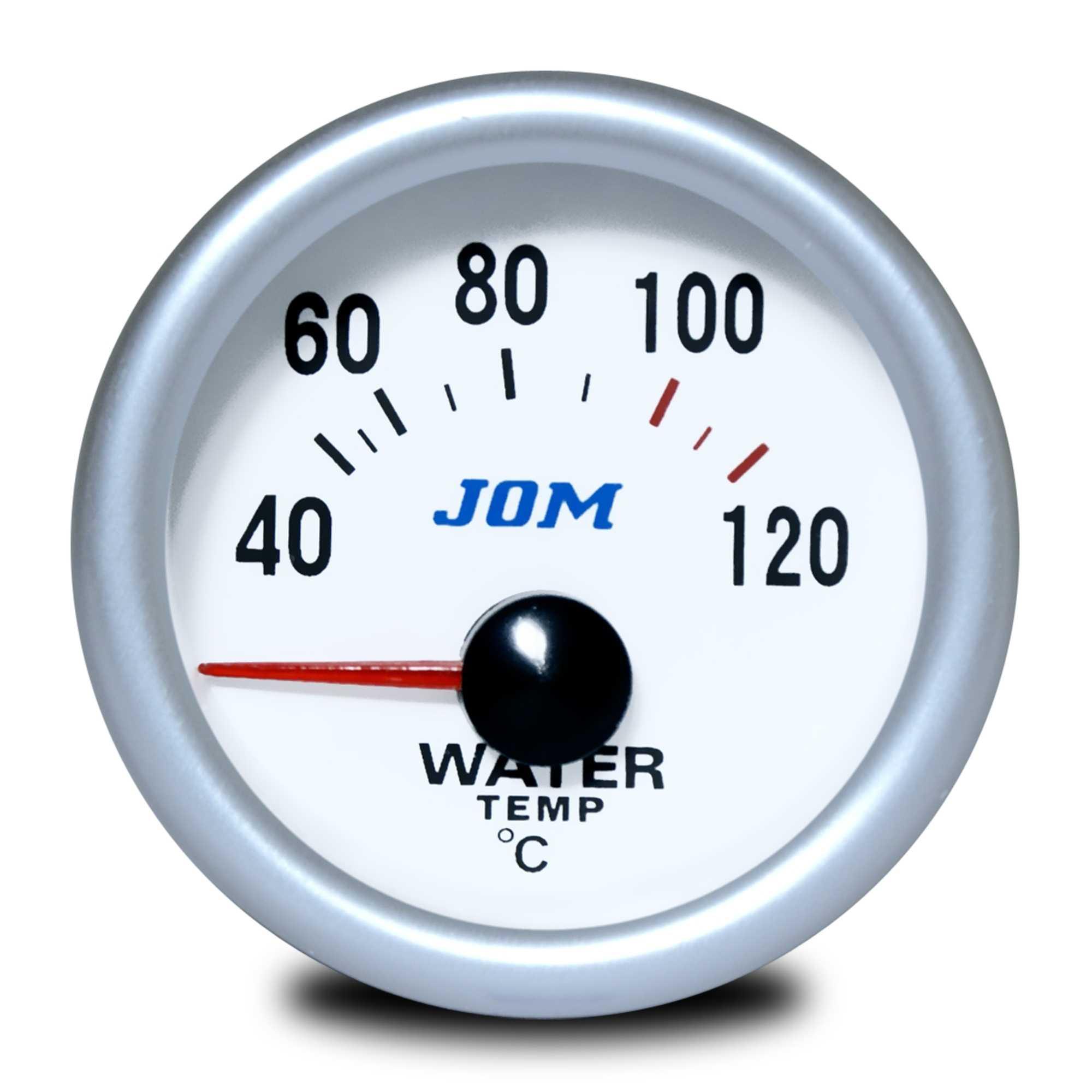 Palubní přístroj - teplota vody s bílým podkladem (Teplota vody přídavný ukazatel)