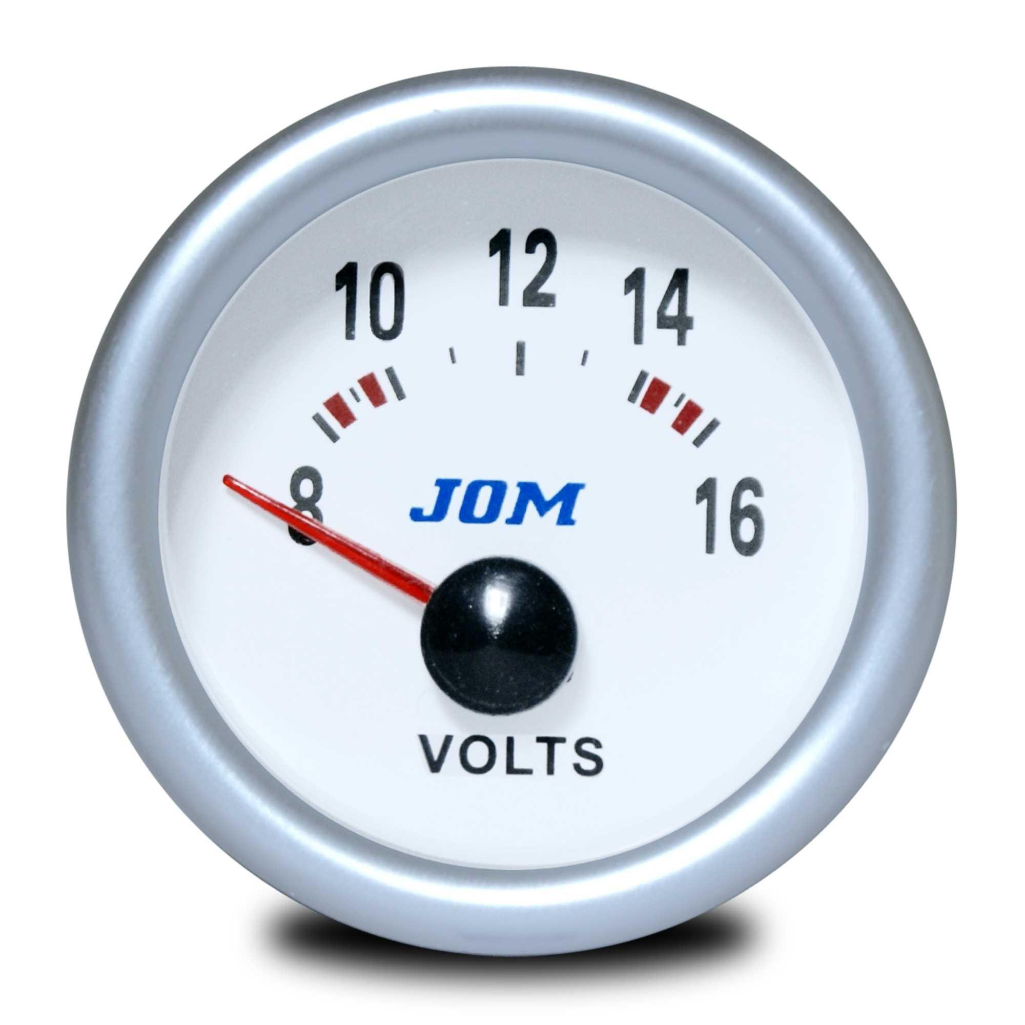 Palubní přístroj - voltmetr s bílým podkladem (Voltmetr - bílý podklad přídavný přístroj)