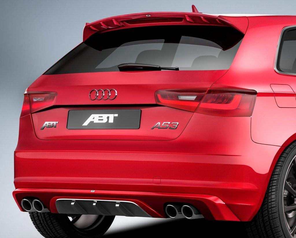 ABT set zadního spoileru a koncového tlumiče výfuku pro Audi A3 8V0 (od 8/12)