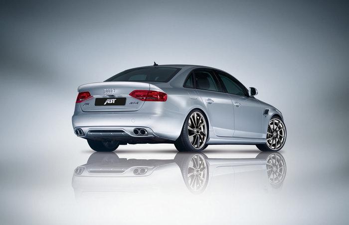 ABT set zadního spoileru a koncového tlumiče výfuku pro Audi A4 8K 2.7 TDI, 3.0
