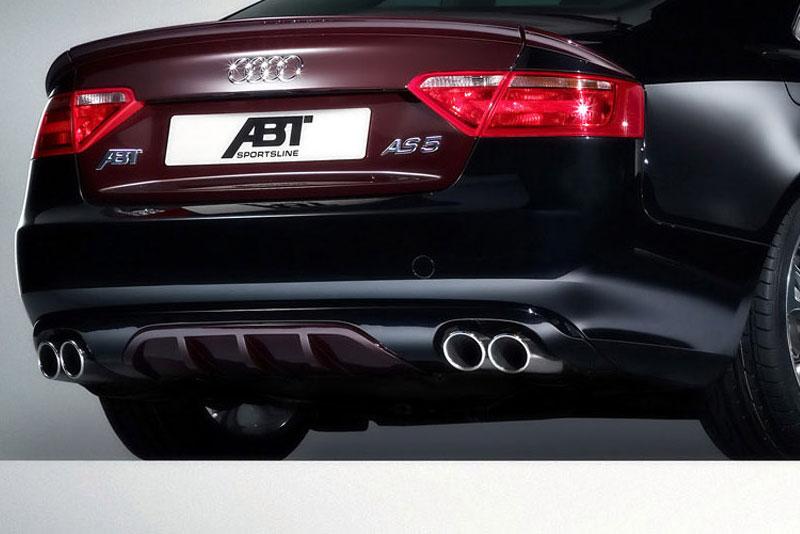 ABT set zadního spoileru a koncového tlumiče výfuku pro Audi A5 8T 2.7 TDI, 3.0