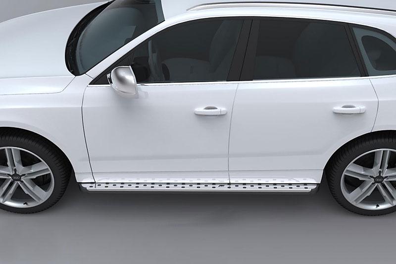 ABT alu boční nástupní lišty s broušeným nerezovým povrchem pro Audi Q5 8R