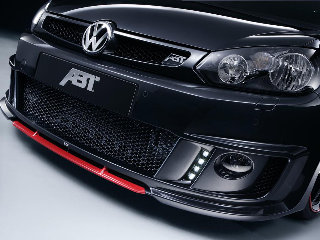 Sada LED světlometů pro denní svícení a předního spoileru pro VW Golf VI GTI/GTD (ABT optický kit)