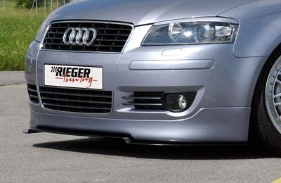 RIEGER Spoiler pod přední nárazník pro Audi A3 8P