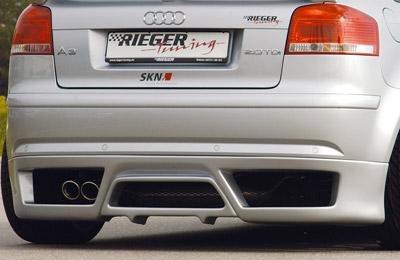 RIEGER Spoiler pod zadní nárazník pro Audi A3 8P