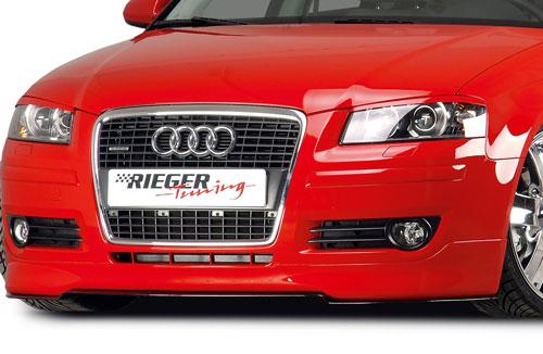 RIEGER Spoiler pod přední nárazník pro Audi A3 8P Facelift