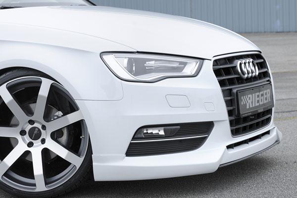 Spoiler pod originální přední nárazník pro Audi A3 8V (vozy bez exteriérového paketu S-Line)